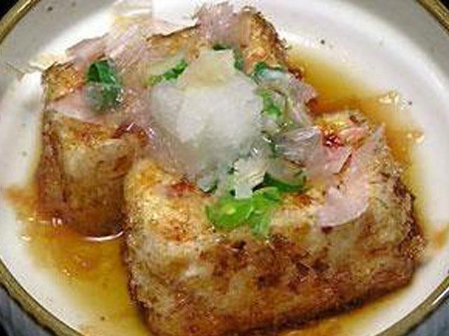豆腐のおかか揚げ