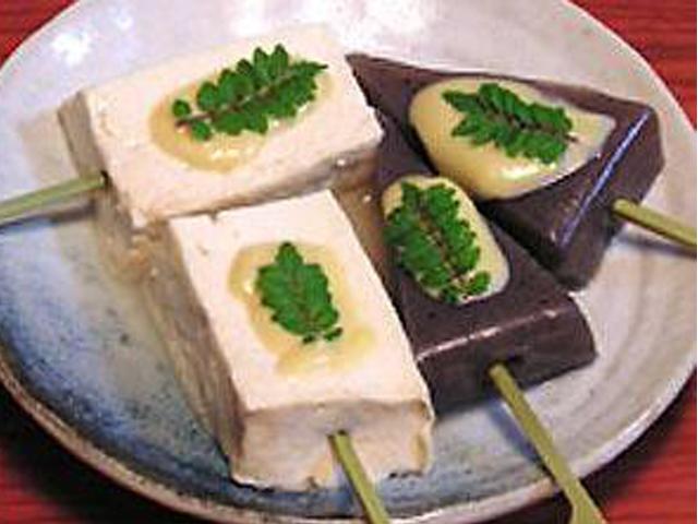 豆腐とこんにゃくの洋風田楽